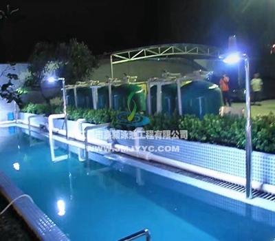 高明钢铁厂运城河游泳池